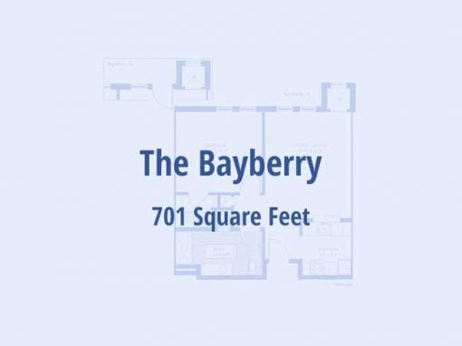 The Bayberry, 701 sq ft