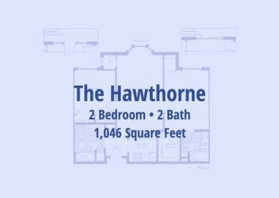 The Hawthorne, 1,046 sq ft