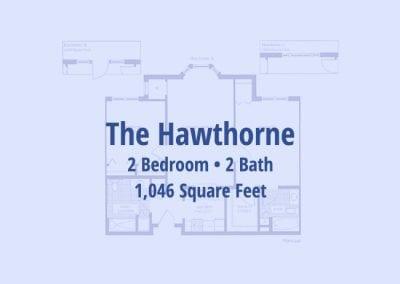 The Hawthorne, 1,046 sq ft