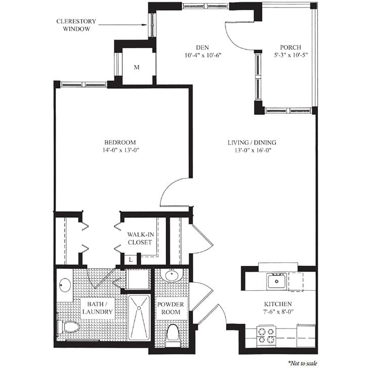 The Elmwood floor plan at The Knolls in Westchester