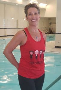 Carol M. is the dedicated and lively leader of Aqua Zumba at The Knolls