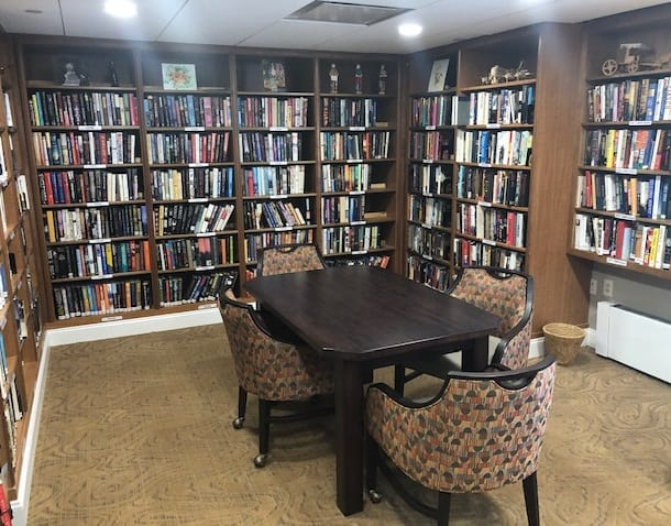 The library at The Knolls in Westchester